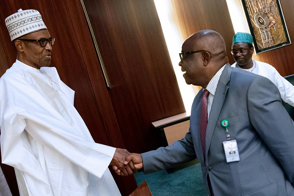 Photos: President Buhari receives Justices of the Supreme Court at the State House?
