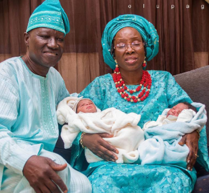 Photos: 57 year old woman and hubby welcome a set of twins after 27 years of waiting and 7 years post-menopause
