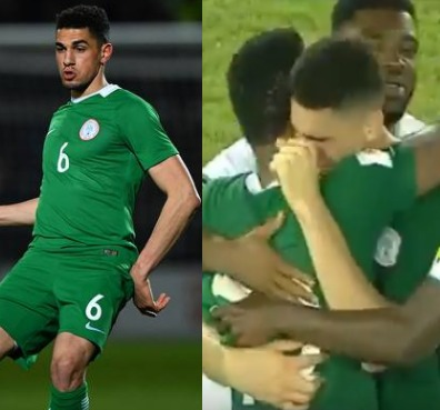 Photos: Super Eagles player, Leon Balogun, broke down in tears after they won their match against Zambia