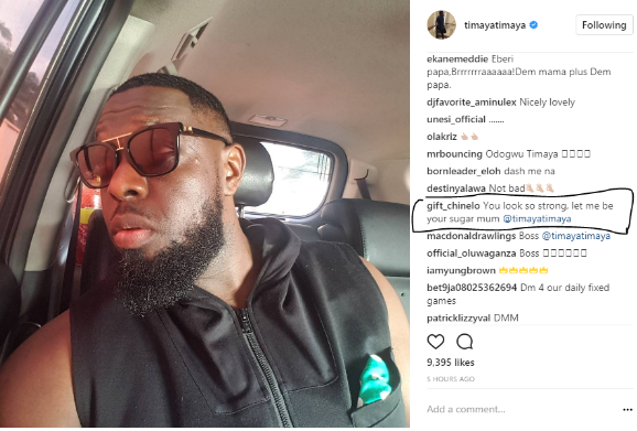 ?Let me be your sugar mummy? - 53-yr-old woman begs Timaya on Instagram