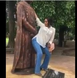 UNILAG student who was videoed twerking to the statue of former VC, Professor Tunde Sofoluwe allegedly rusticated