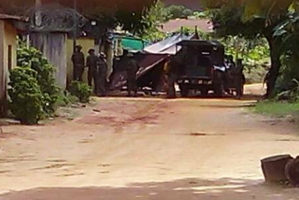 Photos/Video: Army officers/Police storm Nnamdi Kanu