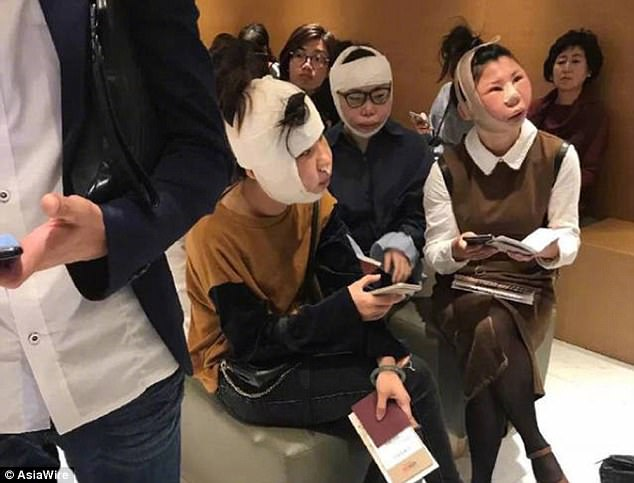 Lol, 3 Chinese women who went to South Korea for plastic surgery are stopped from flying home because they now look different from their passport photos