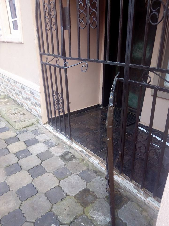 Photos: Armed robbers cut barb wires, burglary proof to rob a home in Delta
