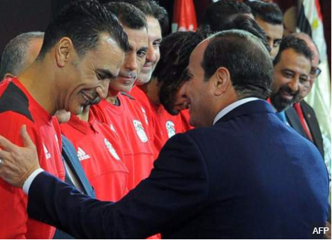 Egyptian president awards?$85,000 bonus to each player in the national team for qualifying for Russia 2018