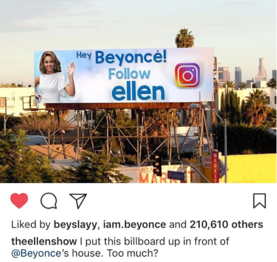 See the great lengths Ellen DeGeneres has gone to get Beyonce, who doesn