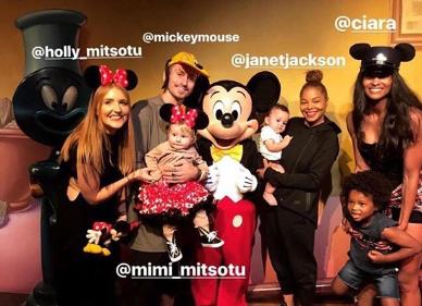 Photos: Janet Jackson and Ciara take their kids to Disneyland