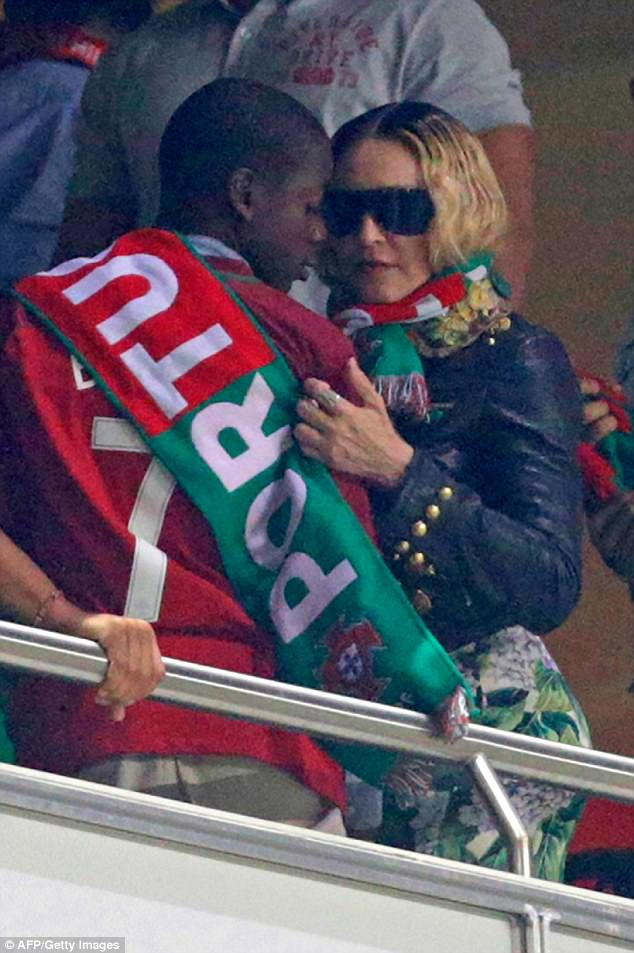 Photos: Madonna celebrates with Portugal as she watches the country qualify for 2018 World Cup in Russia