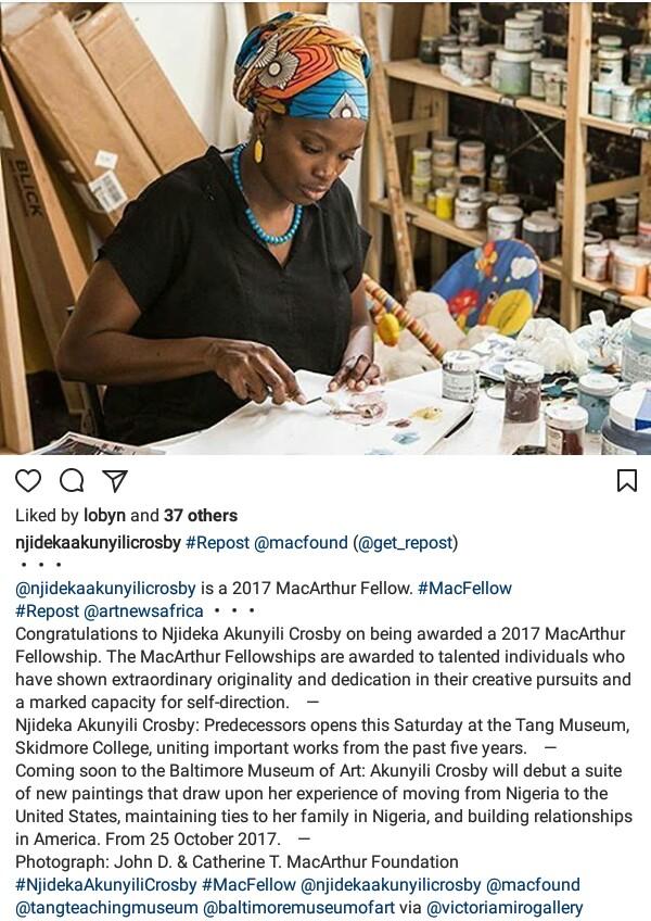 Photos: Njideka Akunyili-Crosby wins the 2017 MacArthur ?Genius? Grant