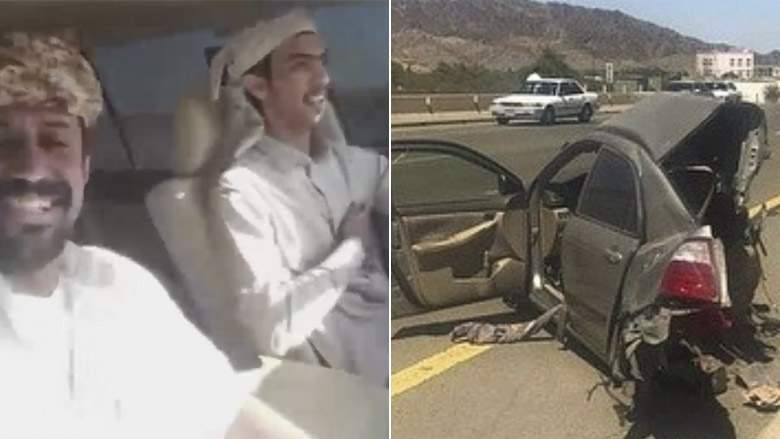 Video Of Two Men Recording Their Death In Horrific Car Accident In Saudi Arabia.