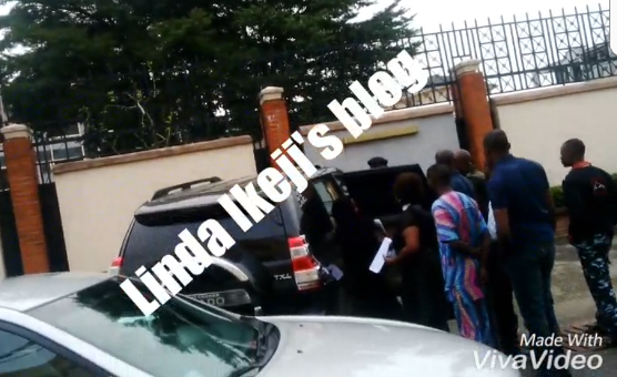LIB exclusive: Commotion at Parkview estate as son of ex-VP, Atiku Abubakar and his ex-wife clash over custody of their child (photos)