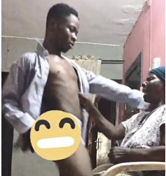 Video: Nigerian man gives his grandmum a lapdance
