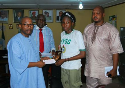 Photo: NYSC donates N3.5m towards corp members heart surgery