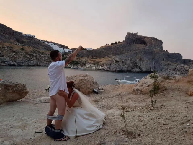 Look at the raunchy photo a couple took on their wedding day that led to Brits being barred from marrying at the idyllic venue