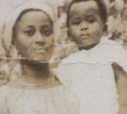 Checkout this epic throwback photo of Desmond Elliot and his mom