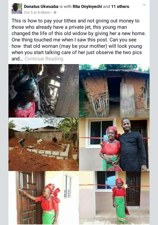 """Nigerian man says people should do this with their tithes """"instead of giving out money to those who already have a private jets"""""""