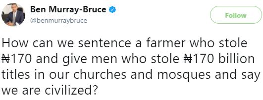 Ben Murray-Bruce asks an interesting question on twitter