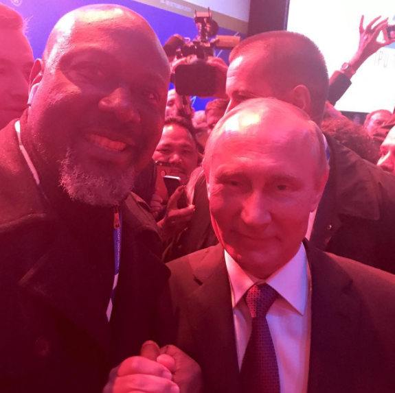 Photo: Dino Melaye meets Russian President, Vladimir Putin