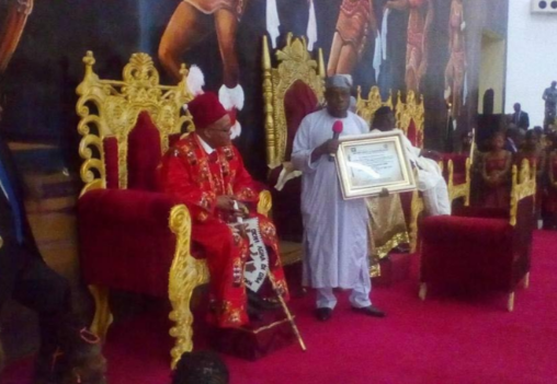 Rochas Okorocha honours South African President, Jacob Zuma with a chieftaincy title in Imo State