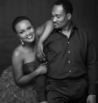 Actor Blossom Chukwujekwu and wife, Maureen, celebrate their 1st wedding anniversary