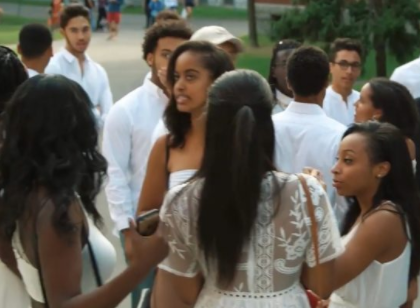Malia Obama attends a Harvard event to welcome black students