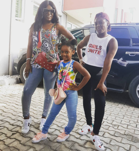 Lovely photo of Annie Idibia and her daughters