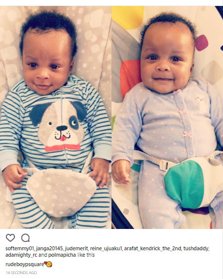 Paul Okoye shares adorable new photo of his 3-months-old twins, Nathan & Nadia