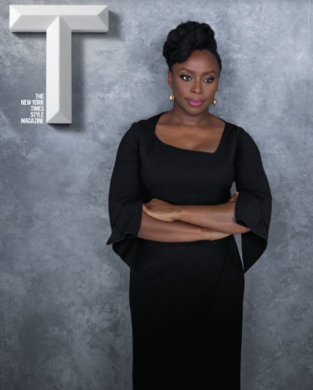Chimamanda Ngozi Adichie strikes a confident pose as she features on one of the seven covers of The New York Times