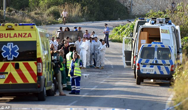 More photos and video from the scene of the car bomb attack that killed female blogger in Malta.