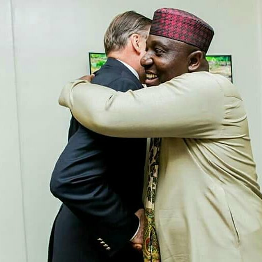 Photos: American Ambassador to Nigeria visits Imo state governor Rochas Okorocha, says US government is proud of him