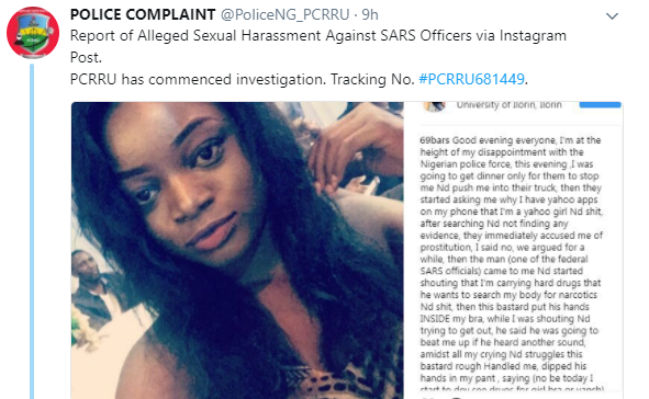 Update: SARS officials accused of sexually harassing lady in Kwara have been identified and are now in custody!