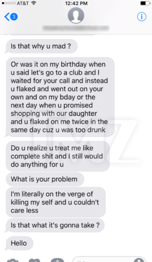 Blac Chyna releases the suicidal texts that Rob Kardashian sent to her before they broke up...and it