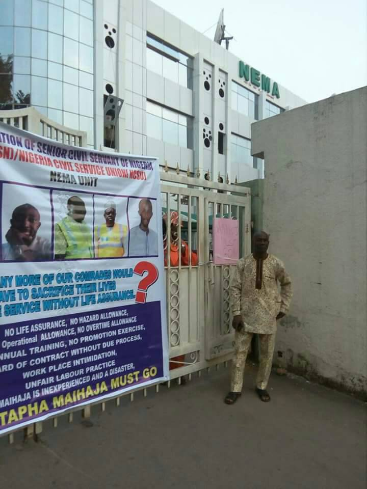Photos:  NEMA staff begin indefinite strike, close all zonal offices