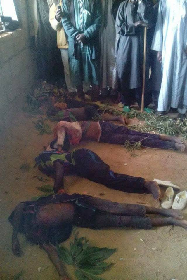 Photos: Six Fulani herdsmen beheaded and their heads reportedly carted away by suspected militants in Plateau state