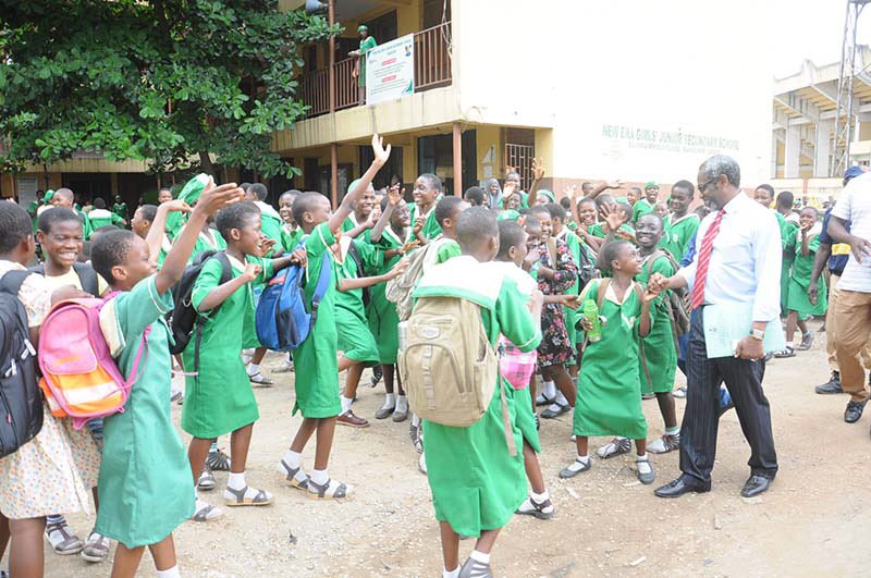 House of Reps majority leader, Femi Gbajabiamila, pictured teaching in some schools in Lagos