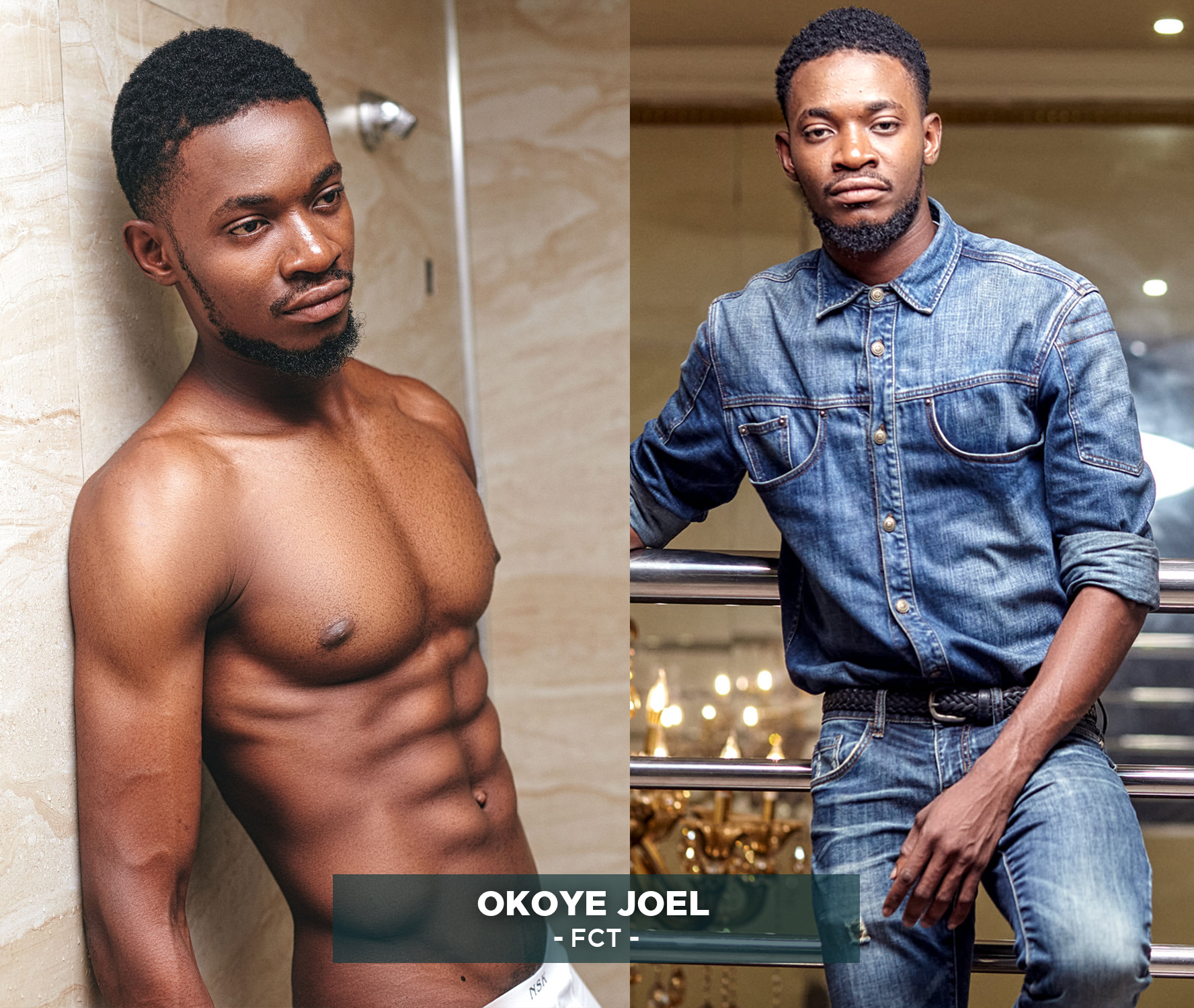 Photos of the new Mr. Universe Nigeria winner - Rasheed Adegoke Kolade