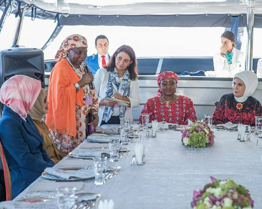 Photos of Aisha Buhari with other first ladies at the D-8 summit