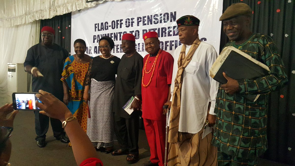 Photos: FG begins pension payment to dismissed Biafra police officers from South South and South East