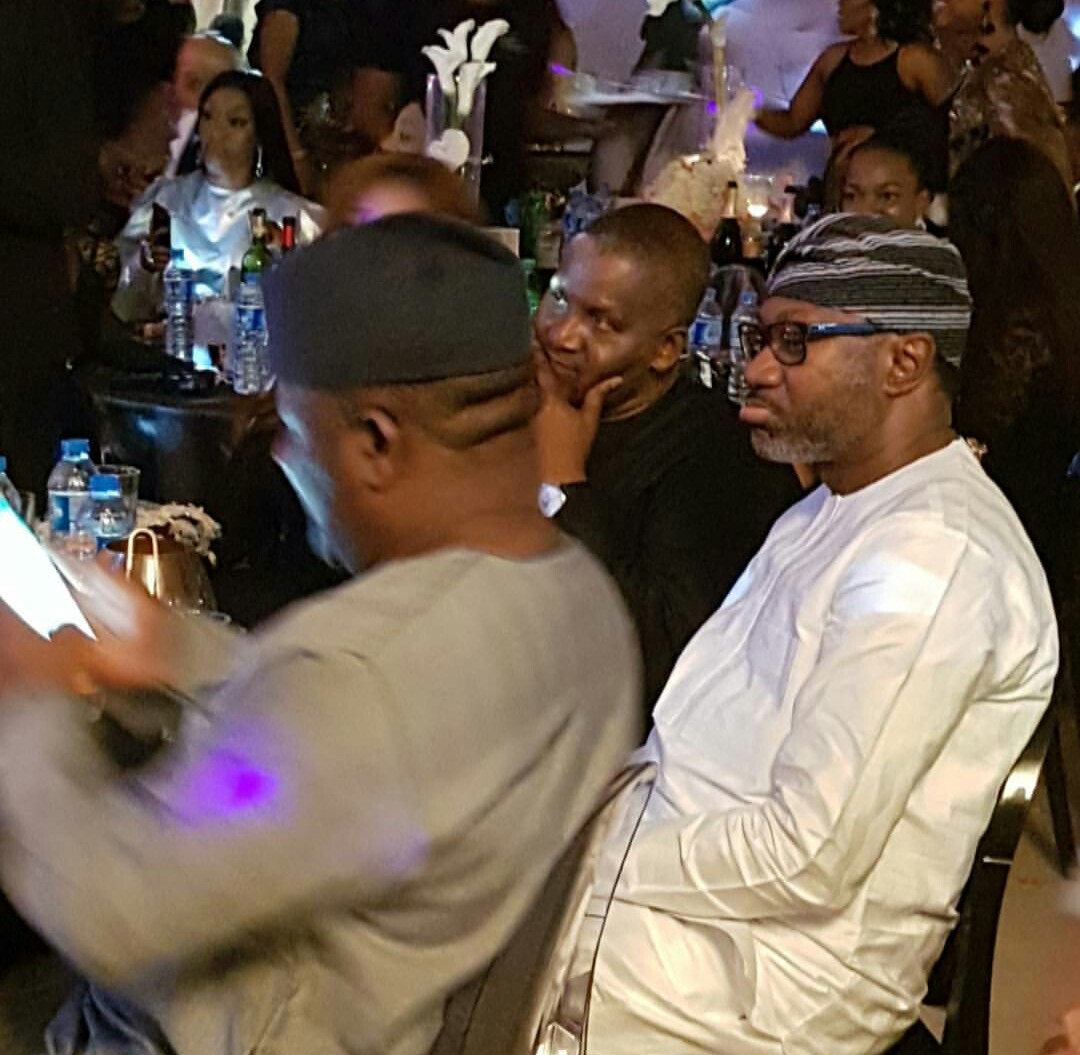What dress code? Aliko Dangote, Femi Otedola step out like bosses for Ifeoma Williams