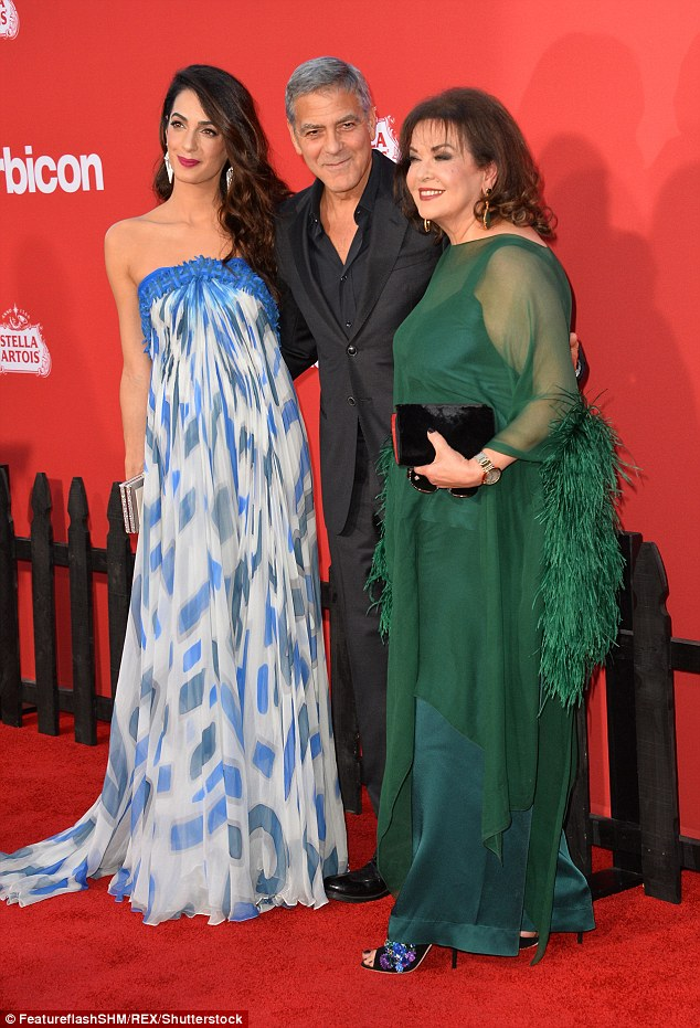 Photos: George Clooney takes wife Amal and mother-in-law to LA premiere of Suburbicon