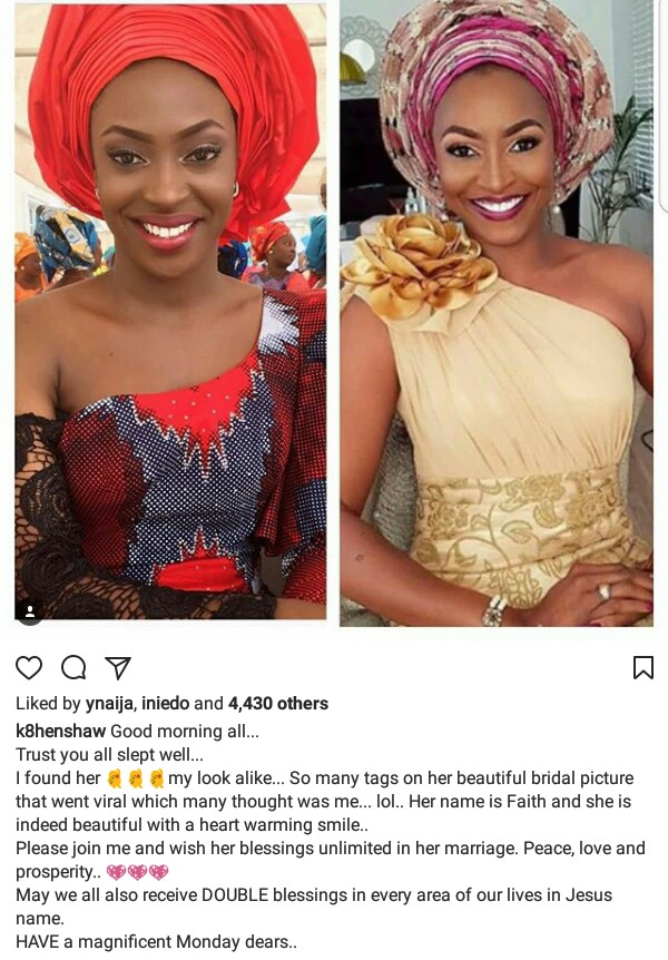 Actress Kate Henshaw finds that her lookalike