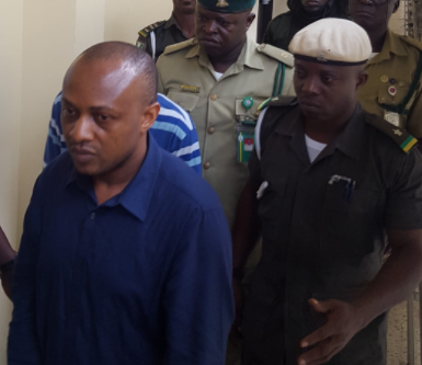Photo of kidnap kingpin, Evans, in court today