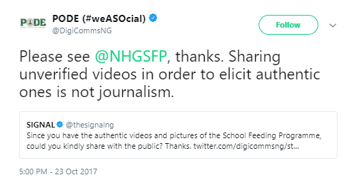 FG reacts to trending video that allegedly shows the deplorable state of the free feeding programme in schools