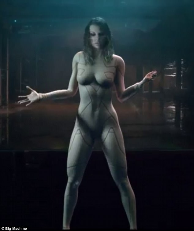Taylor Swift appears totally naked as she shares a sneak peek from her new music video