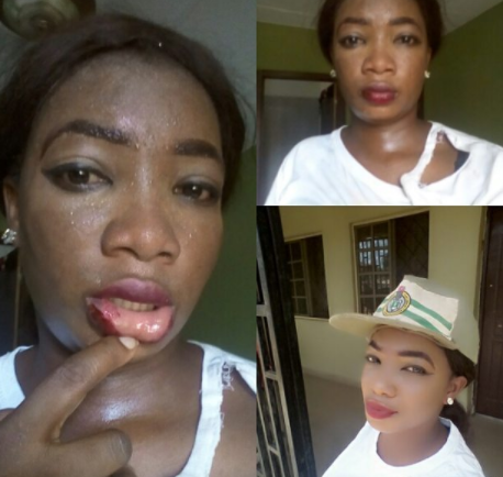 Okada rider in Oyo state beats up female corps member for putting up a fight as he attempted to rape her (photos)