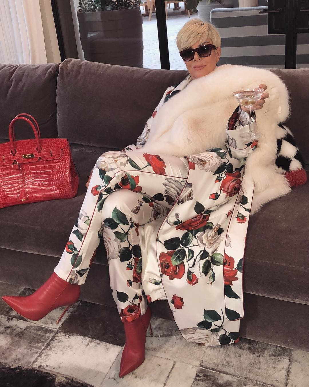 Boujeee & unbothered! Caption this photo of Kris Jenner