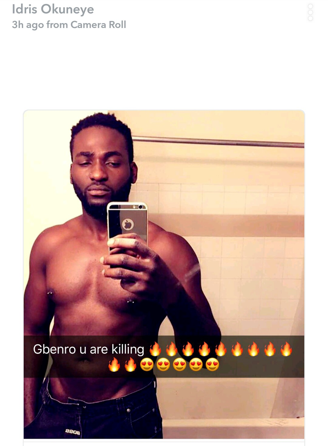 Bobrisky gushes about actor Gbenro Ajibade