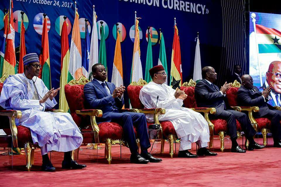 Photos of President Buhari at the 4th Meeting of the Presidential Task Force on ECOWAS single currency in Niger