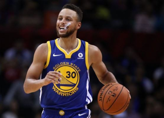 NBA star, Steph Curry fined $50K for throwing mouthpiece toward referee (Video)