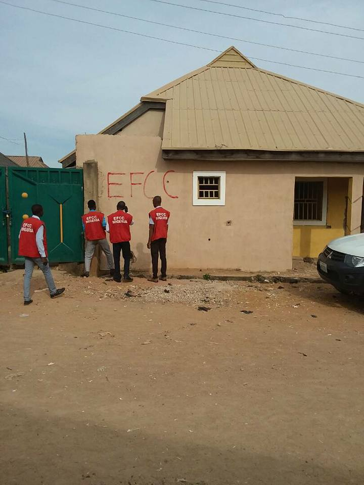 EFCC releases photos of the sealed properties allegedly owned by wanted ex-pension boss, Maina in Kaduna